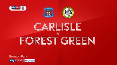 Carlisle 0-0 Forest Green