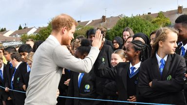 Duke of Sussex promotes rugby initiative