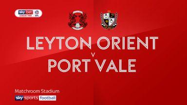 Leyton Orient 3-3 Port Vale