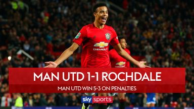 Man Utd 1-1 Rochdale (5-3 pens)