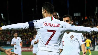 Ronaldo scores four for Portugal
