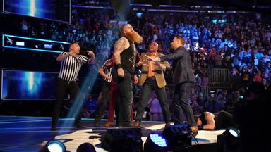 Reigns and Rowan have chaotic brawl