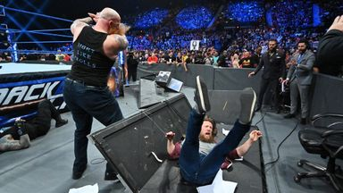 Reigns and Bryan, blindsided by Rowan