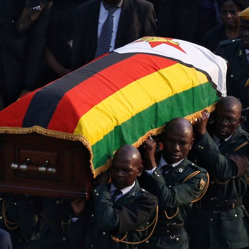 Mugabe's burial site chosen after 'dispute between government and family'
