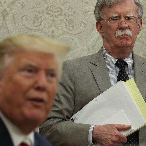 Donald Trump sacks John Bolton as his 'services no longer needed'