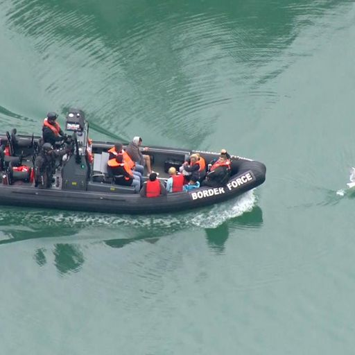 Migrant boats intercepted off Dover coast