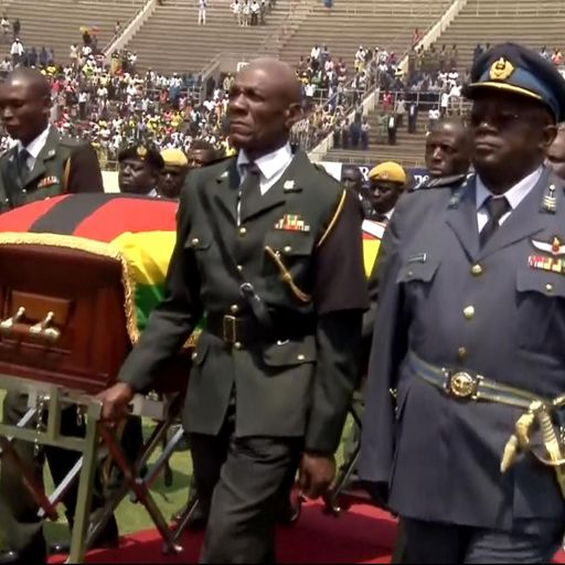 Stadium 'only a quarter full' for Robert Mugabe's state funeral