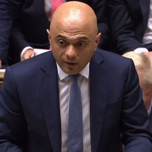 Speaker accuses Chancellor Sajid Javid of being 'out of order'