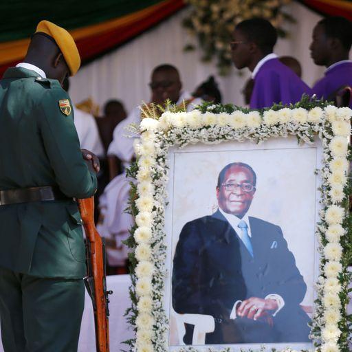 'Don't judge him harshly': Zimbabwe's former leader Robert Mugabe is buried