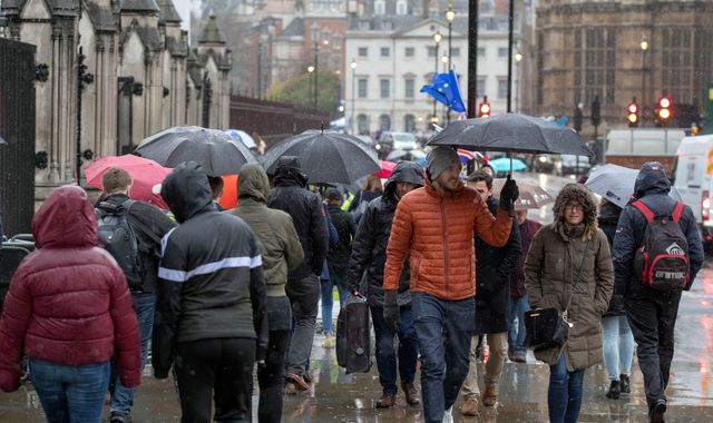 Weather warning issued as heavy rain and storms set to batter parts of UK