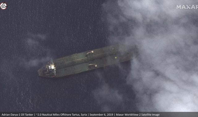 Satellite images show 'Iranian oil tanker sought by US near
