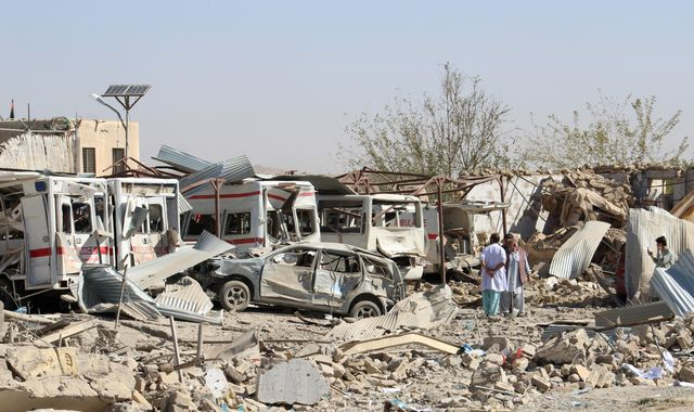 Suicide attack on hospital in Afghanistan kills at least 20