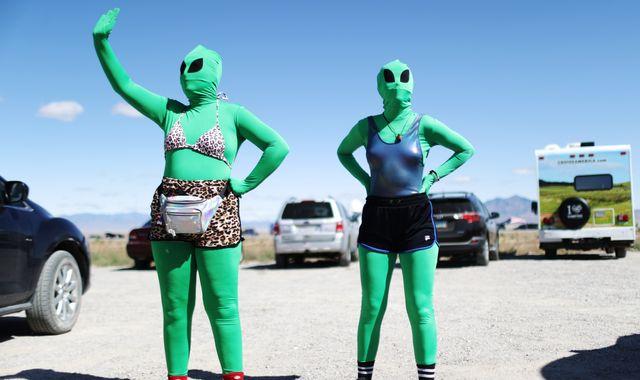 Hundreds of Earthlings descend on Area 51 after internet joke