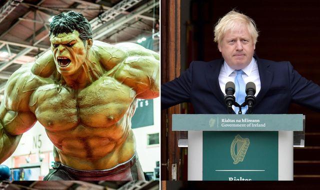 Boris Johnson likens UK to Hulk as Brexit secretary says 'landing zone' in sight for deal