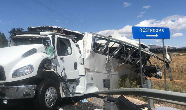 Bryce Canyon tour bus crash leaves four people dead and dozens injured