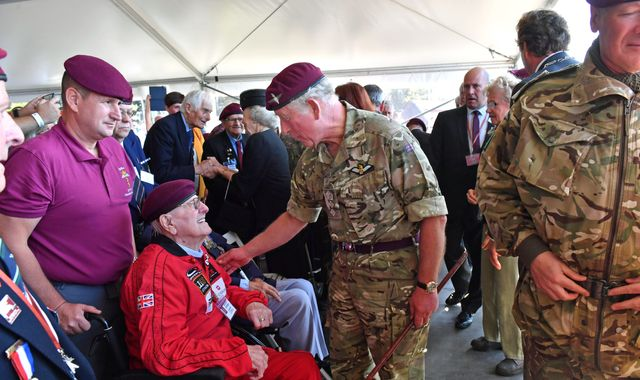 Arnhem: Veteran, 97, completes parachute jump to mark 75th anniversary memorial
