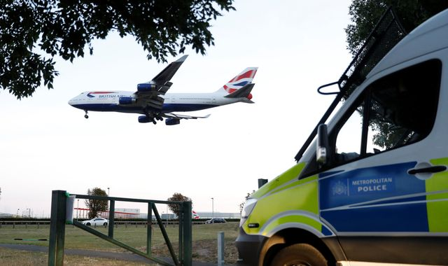 Heathrow protest fails to take off as drones 'blocked by signal jammers'