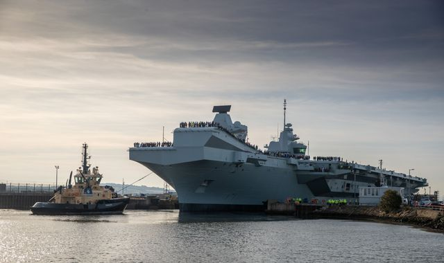 HMS Prince of Wales: Tight squeeze for 'extraordinary' UK aircraft carrier in maiden voyage