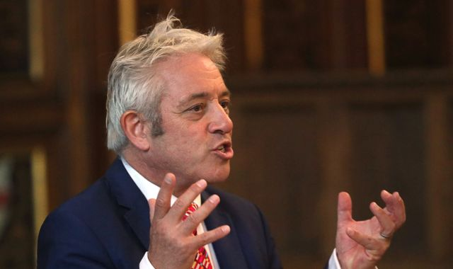 John Bercow tells Boris Johnson not to break Brexit law like a 'bank robber'