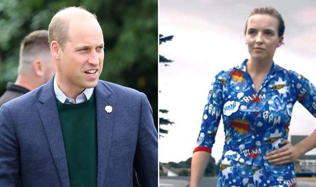 Clothes fit for an assassin: Prince William given Killing Eve pyjamas during BAFTA visit