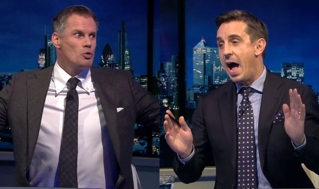 Gary Neville and Jamie Carragher clash over their performances in Vincent Kompany testimonial!