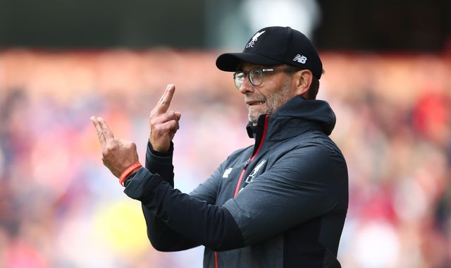 Jurgen Klopp says Liverpool are behind Manchester City