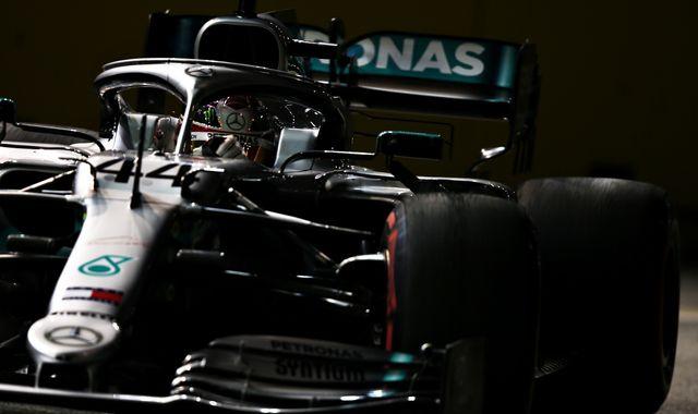 Singapore GP Practice Two: Lewis Hamilton ahead of Max Verstappen