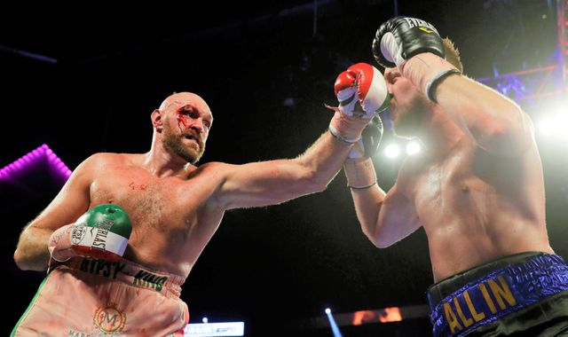Tyson Fury suffers a cut but bravely does enough to outpoint Otto Wallin