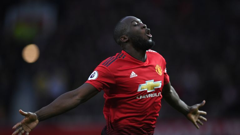 MANCHESTER, ENGLAND - MARCH 02:  Romelu Lukaku of Manchester United celebrates after scoring the second goal during the Premier League match between Manchester United and Southampton FC at Old Trafford on March 02, 2019 in Manchester, United Kingdom. (Photo by Shaun Botterill/Getty Images)