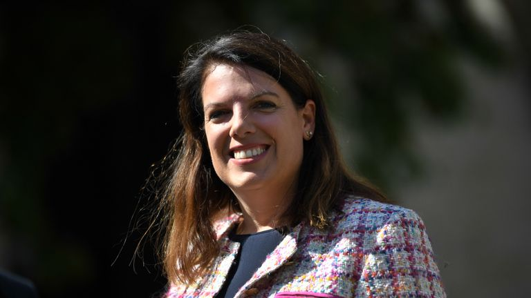 Former immigration minister Caroline Nokes outside the Houses of Parliament in Westminster, London.