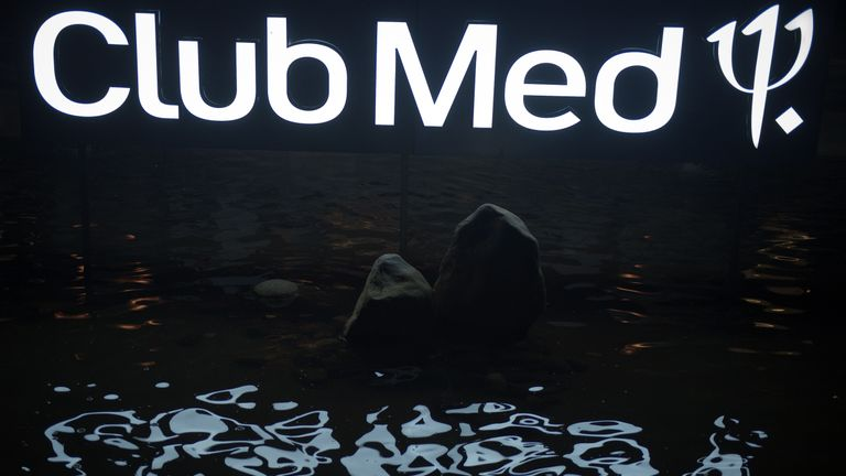 "In this picture taken on October 11, 2016 the Club Med logo is seen at the Club Med resort in Sanya.  Almost two years after being bought out by Chinese investment fund Fosun, the holiday resort French group Club Med tries to import its recipes on a promising Chinese market, where a growing upper middle-class now discovers the concept - still very new in Chinese society - of holiday resorts. / AFP / NICOLAS ASFOURI / TO GO WITH AFP STORY: ""CHINA-FRANCE-TOURISM-INVESTMENTS-SOCIETY"" Focus by Julien GIRAULT        (Photo credit should read NICOLAS ASFOURI/AFP/Getty Images)"