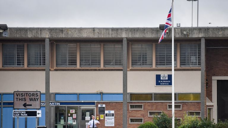 A general view of HMP Long Lartin, near Worcester, where order has been restored after a siege at the prison last night, when a group of inmates took over part of a building, the Ministry of Justice said.