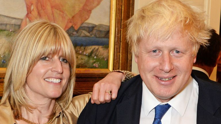 """LONDON, ENGLAND - OCTOBER 22: (L to R) Rachel Johnson, Mayor of London Boris Johnson and Jo Johnson attend the launch of Boris Johnson's new book """"The Churchill Factor: How One Man Made History"""" at Dartmouth House on October 22, 2014 in London, England. (Photo by David M. Benett/Getty Images)"""