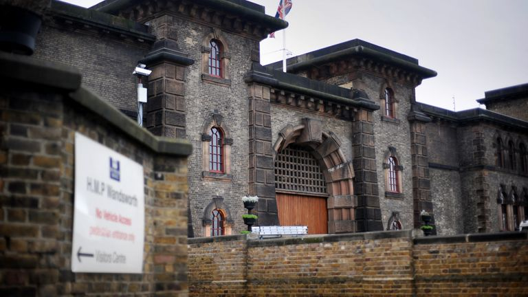 General view of HMP Wandsworth, London.