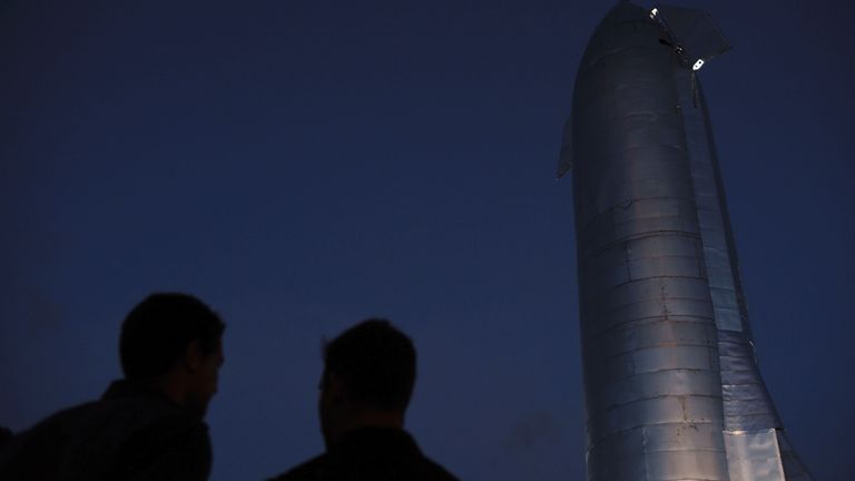 A crowd gathers before SpaceX's Elon Musk gives an update on the company's Mars rocket Starship in Boca Chica, Texas U.S. September 28, 2019. REUTERS/Callaghan O'Hare