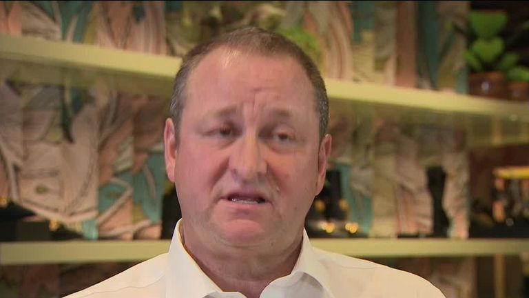 Mike Ashley, founder and chief executive of Sports Direct International,  interviewed by Sky News on 11 September 2019