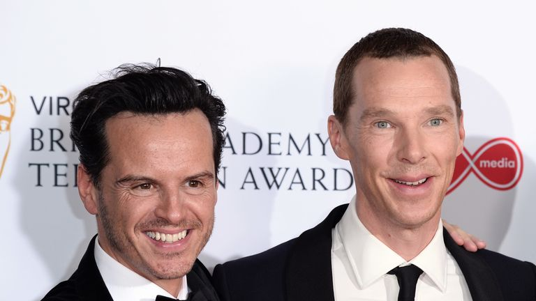 Irishman Andrew Scott appeared in Sherlock with English actor Benedict Cumberbatch