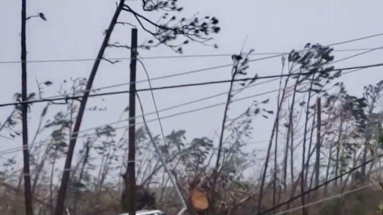 US state evacuations as 185mph hurricane hits Bahamas