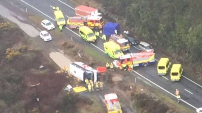 The crash happened north of Rotorua in New Zealand. Pic: 