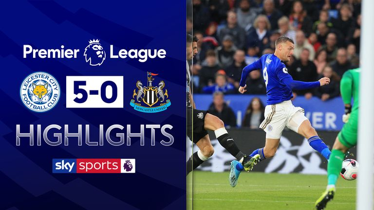 FREE TO WATCH: Highlights from Leicester's 5-0 home win over Newcastle