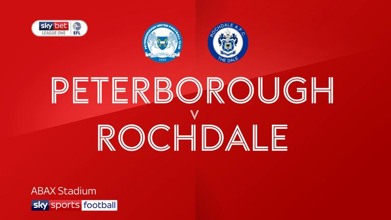 Highlights of the Sky Bet League One match between Peterborough United and Rochdale