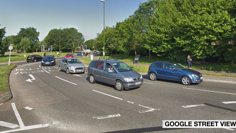 The police officers were struck down on the A259 at the Body Shop roundabout in Littlehampton