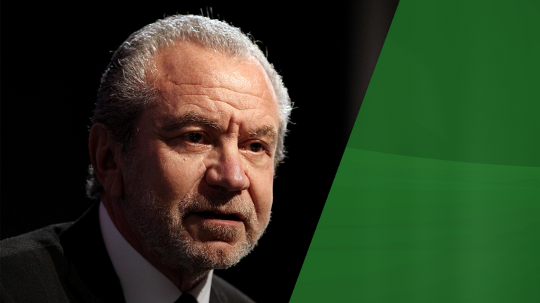 Lord Alan Sugar says he is working class