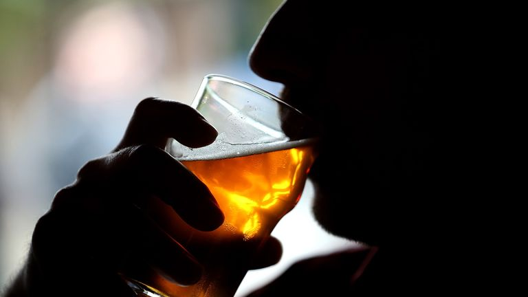 The study found minimum pricing has cut drinking by around half a pint a week