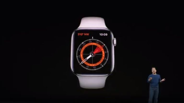 The Apple Watch Series 5 has a built-in compass