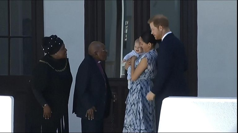 Royals meet Archbishop Tutu