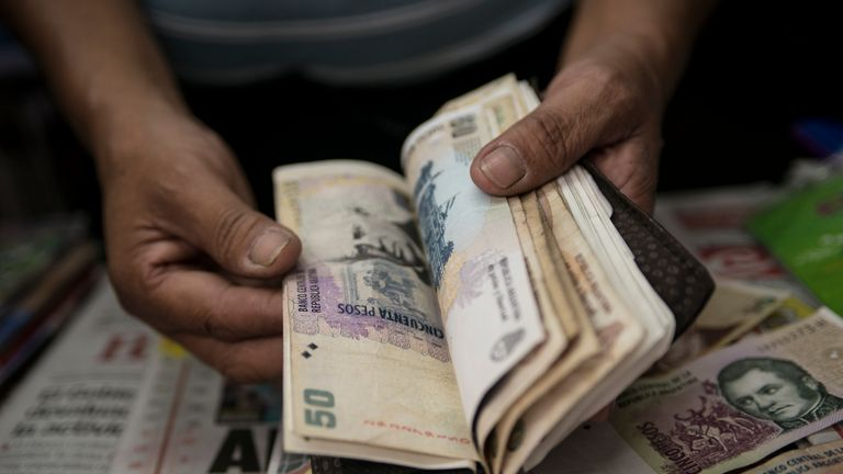 The peso lost 36 per cent of its value against the dollar last month as market confidence was shaken by election results