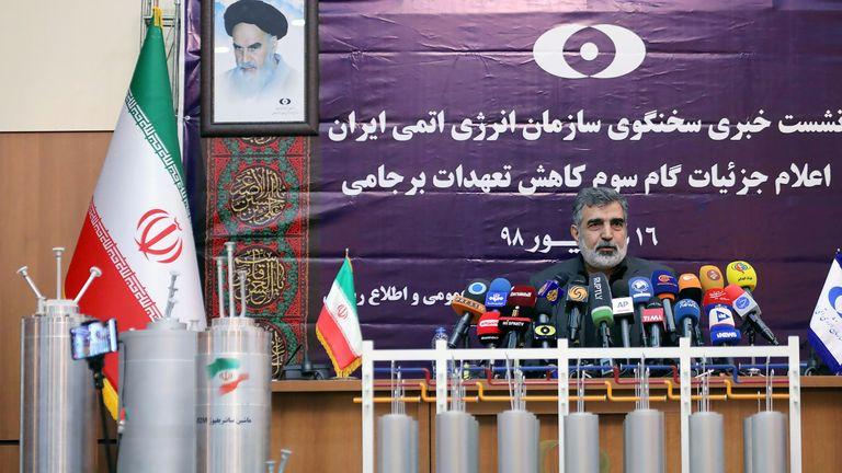 Behrouz Kamalvandi, spokesman for the Atomic Energy Organisation of Iran