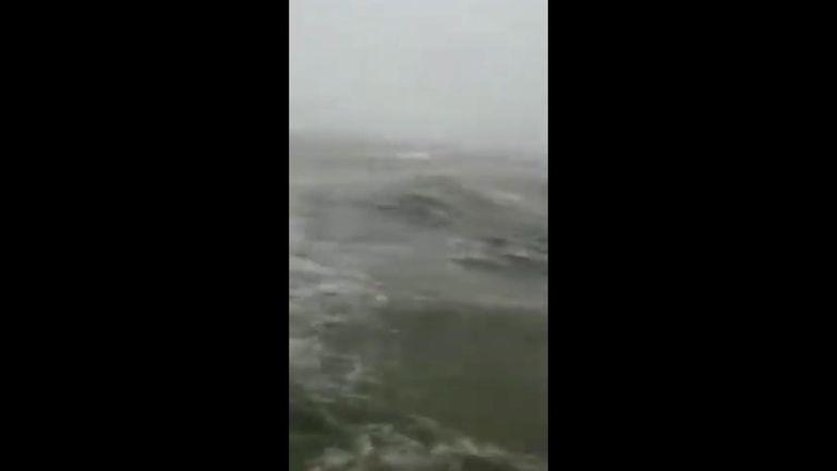 The sea engulfed Grand Bahama International Airport,