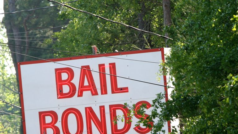 Defendants granted in the bail in the US can borrow the money from bond agents. File pic